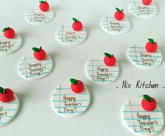 Teacher's day cupcake toppers