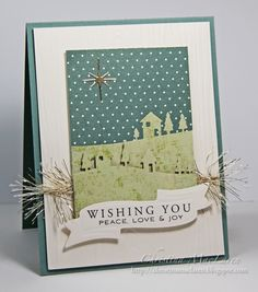 Sea Glass & Sentiments: Love this Memory Box folder and the Banner Ribbon die by Spellbinders.