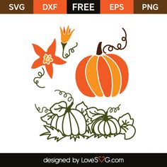 *** FREE SVG CUT FILE for Cricut, Silhouette and more *** Pumpkins