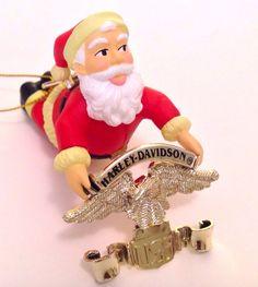 Harley Davidson Motorcycle Ornament Santa 1997 North Pole Motorcycle Club