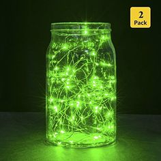 Bright 2Pack 98FT 30LEDs Micro Copper Wire String Light Starry Firefly Light 2CR2032 Battery Included Fairy LED String Lights for Home Wedding Party Christmas Tree Indoor Decoration Green *** Click on the image for additional details. This is Amazon affiliate link.