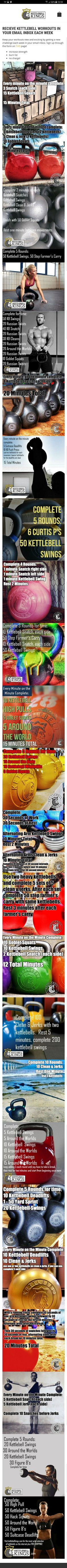 Kettlebell Workouts from info.kettlebellkings.com https://www.kettlebellmaniac.com/kettlebell-exercises/