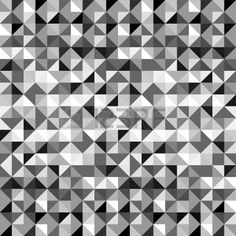 Black and white geometric triangles seamless pattern Stock Photo