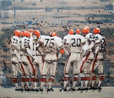 """Lets Go for the Bomb"" Cleveland Browns, by Aldo Luongo, 1978"