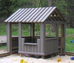 Trex playhouse. I think something a bit more interesting would be nice, but I want nice and open like this.