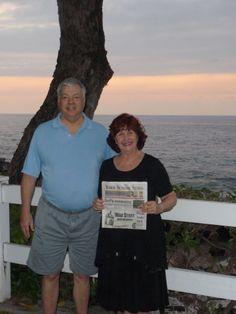 Ken and Brenda Hersey in Hawaii  Photo posted by:Ken Hersey  l-r Ken Hersey and Brenda Hersey.    vacationed in Hawaii in Feb 2012 on Kona the Big Island