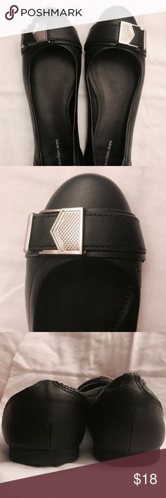 Black Calvin Klein Flats Great condition. Only worn a few times. Calvin Klein Jeans Shoes Flats & Loafers