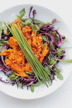 Sweet Potatoes, Red Cabbage and Rocket Salad