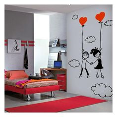 Bedroom Wall, Kids Bedroom, Bedroom Decor, Doodle Wall, Wall Painting Decor, Wall Drawing, Boy Girl Room, Cool Walls, Wall Murals