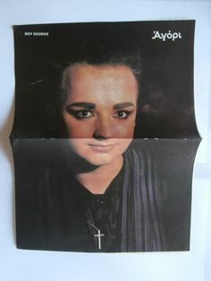 Boy George Mini Poster Greek Magazines clippings 80s 90s | eBay