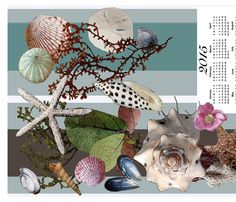 2015 Tea Towel Calendar Beach Walk fabric by luv2silkpaint on Spoonflower - custom fabric