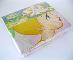 Disney Fairies NIP Sheet Set Twin Sugar Tink Tinker Bell Flat Fitted Pillowcase
