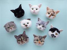 Quick Crafts, Diy Crafts For Gifts, Cat Crafts, Craft Stick Crafts, Yarn Animals, Pom Pom Animals, Asian Quilts, Pom Pom Crafts, Felt Cat