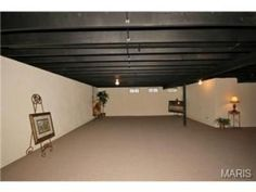 Basement ideas (ceiling, white/unfinished walls)