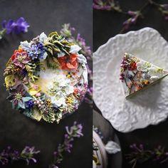 "467 Likes, 12 Comments - 청담 수케이크 (atelier soo) (@soocake_ully) on Instagram: ""ㅡ ㅡ party cake design. Soocake. 곧있을 내생일. 가족모임. ㅡ #flower #cake #flowercake #partycake…"""