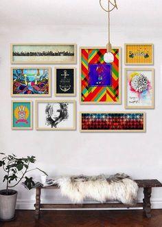 Composição de quadros Descolada composição de Posters com 09 itens - Top Quadros