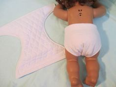 """Doll Clothes 15-17"""" Quilted Lining Doll Diaper   Baby Alive Real Surprises   