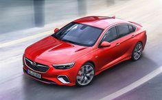 Descargar fondos de pantalla Opel Insignia GSi, 2018, El Nuevo Insignia, rojo Opel, tuning, coches alemanes, Opel