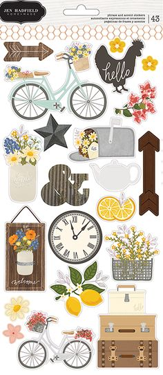 Pebbles - Simple Life Collection - Clear Stickers