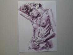 book illustrations Du gabst der Aphrodite Deine Augen. Copyright by Wulf von Appen Federzeichnung ,laviert 16.o1.2o11