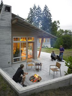 Contemporary Spaces Concrete Poured Stepping Stones Patio Design, Pictures, Remodel, Decor and Ideas - page 11