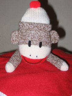 Personalized sock monkey blankey