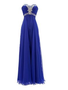 long blue strapless dresses | ... this royal blue prom dresses for pageant with unique style long gowns
