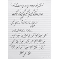 CALLIGRAPHY EVERYDAY - I really like this exemplar inspired by E. A....