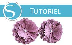 Fabriquer une fleur en relief / 3D avec une Silhouette Caméo ou Portrait