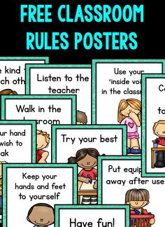 Classroom Rules Posters (FREE)