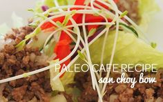 serves 6 1kg pork mince 1/4 cup water chestnuts, sliced 1/4 packet sweet potato noodles 1 tbl ghee 2 tbl coconut amino 1 tsp chopped garlic 1 tsp chopped ginger 1 spring onion, sliced 1 tsp ground coriander 1/2 tsp chinese five spice 1/2 bunch coriander chopped salt and pepper iceberg lettuce, cut into cups …
