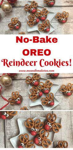 How to Make No-Bake Reindeer Oreo Cookies for Christmas! - How to Make No-Bake Reindeer Oreo Cookies for Christmas! These are super easy and perfect to make f - Christmas Cookies Kids, Easy Christmas Treats, Xmas Cookies, Christmas Sweets, Christmas Cooking, Oreo Cookies, Christmas Goodies, Christmas Candy, Simple Christmas