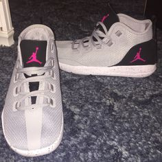 4a4dc4ccf5f Shop Women's Jordan Gray Pink size 7 Athletic Shoes at a discounted price  at Poshmark.