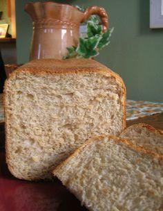 Make and share this Light Wheat Bread (Bread Machine) recipe from Genius Kitchen. Bread Maker Recipes, Banana Bread Recipes, Baking Recipes, Breadmaker Bread Recipes, Bread Machine Recipes Healthy, Cake Recipes, Cooking Bread, Bread Baking, Bread Food