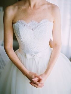 Love this >> Handmade Lace and Tulle Wedding Gown