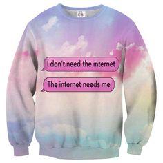 Internet Needs Me pastel unisex sweater trui multicolours