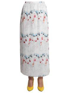 JEREMY SCOTT Long Pleated Skirt. #jeremyscott #cloth #