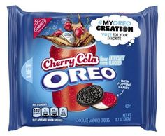 Oreo Cherry Cola Chocolate Sandwich Cookies - My Oreo Creation, Ounce - Food Weird Oreo Flavors, Pop Tart Flavors, Cookie Flavors, Sandwich Cookies, Oreo Cookies, Chocolate Cookies, Kosher Recipes, Gourmet Recipes, Pop Tarts