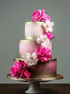 Collection combines affordability and beauty into one, perfect for those looking for budget friendly wedding cake options. Never compromising in quality, all of our cakes are made fresh to o (Wedding Cake Recipes) Gorgeous Cakes, Pretty Cakes, Bolo Floral, Gateaux Cake, Amazing Wedding Cakes, Cake Gallery, Wedding Cake Inspiration, Wedding Cake Designs, Fancy Cakes