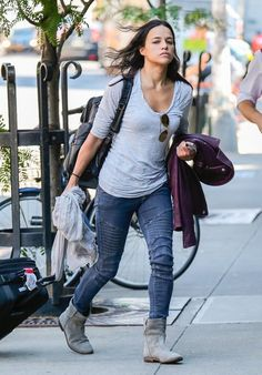 'Fast & Furious 6' actress Michelle Rodriguez arriving to her hotel in New York City, New York on July 30, 2013.
