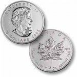 Canadian Maple Leaf 1 Oz Silver Coin -Random Years- $6.00 The Canadian Silver Maple Leaf has a certified silver purity of .9999 by The Royal Canadian Mint, ma.. $20.46