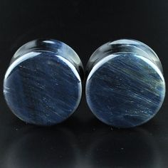 "Pair of Blue Tiger Eye Ear Plugs - Double flare saddle design 3/4"" (19mm) TEB-019-2-P by ArcticBuffalo on Etsy https://www.etsy.com/listing/236598755/pair-of-blue-tiger-eye-ear-plugs-double"