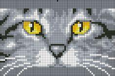 Cat Cross Stitches, Hand Embroidery Stitches, Cross Stitching, Cross Stitch Patterns, Pearler Bead Patterns, Bead Loom Patterns, Knitting Charts, Baby Knitting Patterns, Wayuu Animal