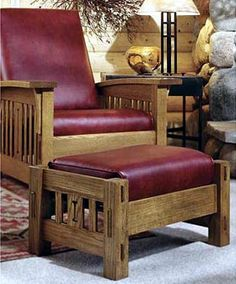 #Arts Morris Chair #Woodworking Plan | Believed to have originated with William Morris, father of the English Arts and Crafts movement, the so-called #MorrisChair combines comfort with simply stated good looks. True to form, our version features loose cushions, curved arms, and an adjustable back. We'll even tell how to make the cushions!