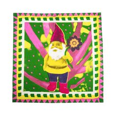 Gnome In The Rhubarb Knot-Wrap: Wrap up Mom's gift with this colorful and vibrant Knot-Wrap.
