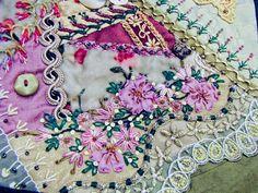 Sharon Boggon;s Crazy Quilt Block by needlepointernc, via Flickr