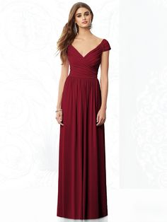 After Six Bridesmaids Style 6697 http://www.dessy.com/dresses/bridesmaid/6697/ Color Claret