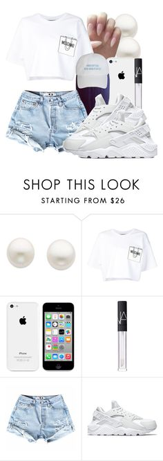 """~QUANIE~"" by honey-cocaine1972 ❤ liked on Polyvore featuring Reeds Jewelers, Moschino, NARS Cosmetics and NIKE"