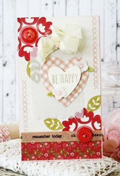 Be Happy Card by Melissa Phillips for Papertrey Ink (December 2014)