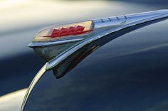 Plymouth Images by Jill Reger - Images of Plymouths - 1947 Plymouth Hood Ornament